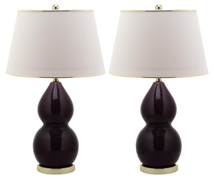 Jill Double Gourd Lamp Set, DNU
