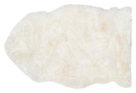 2'x3' Eliza Natural Sheepskin, White