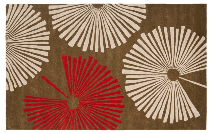 Laurel Rug, Brown/Cream/Red