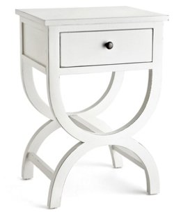 Jenna Curved Nightstand, White   Nightstands   Bedroom   Furniture | One  Kings Lane