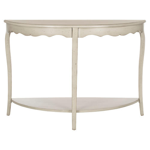 Elling 2-Shelf Console, Off-White