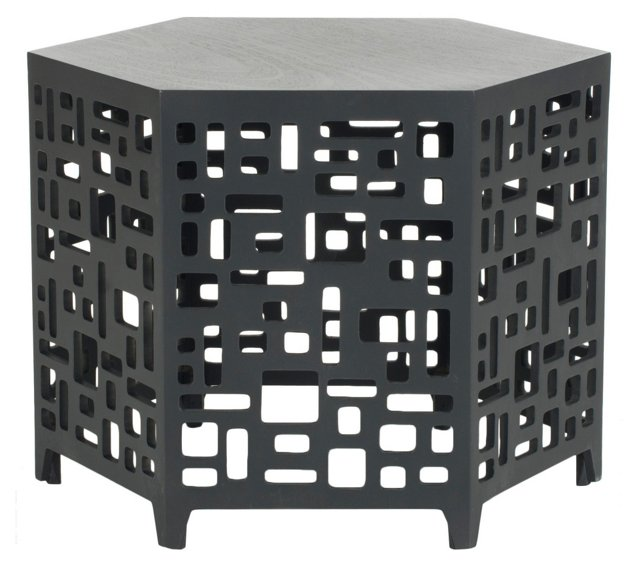 Amina End Table, Dark Gray