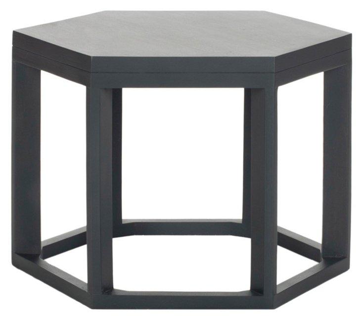 Lenora Side Table, Dark Gray