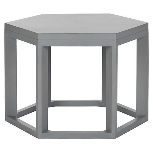 Lenora Side Table, Gray