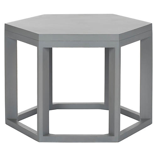 Lenora Side Table, Gray