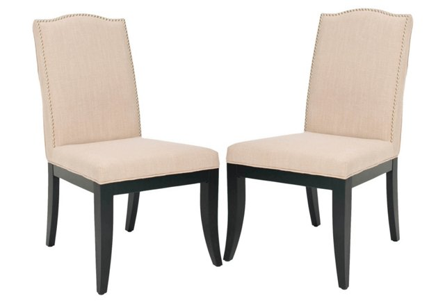 Sand Everly Side Chair, Pair