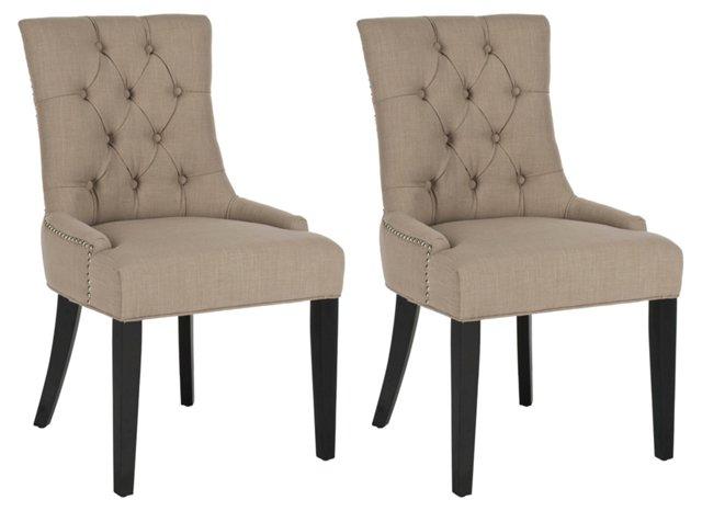 Sand Cameron Chairs, Pair