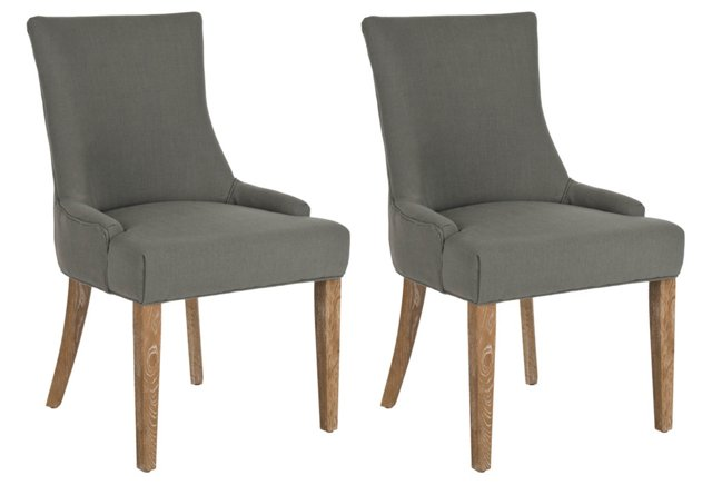 Granite Lester Dining Chairs, Pair