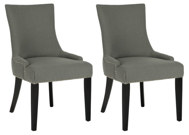 Slate Lester Dining Chairs, Pair