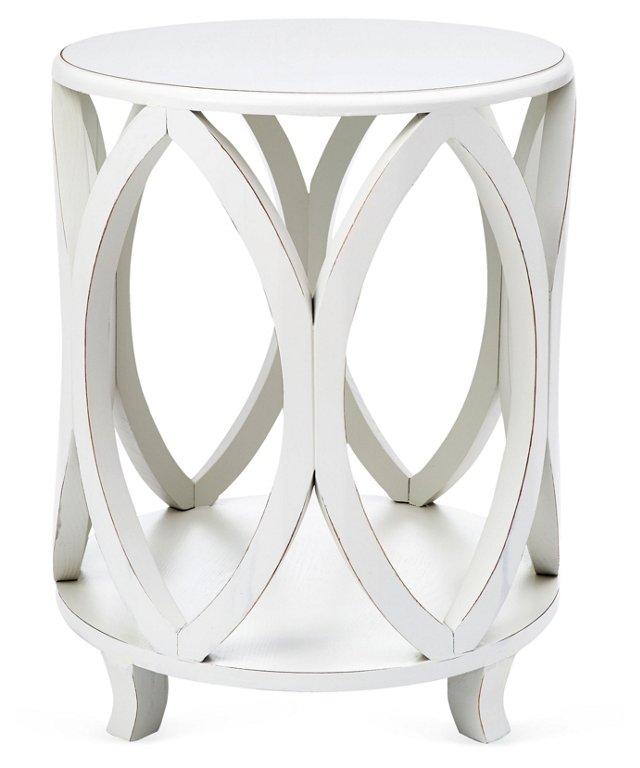 Calvin Side Table, White