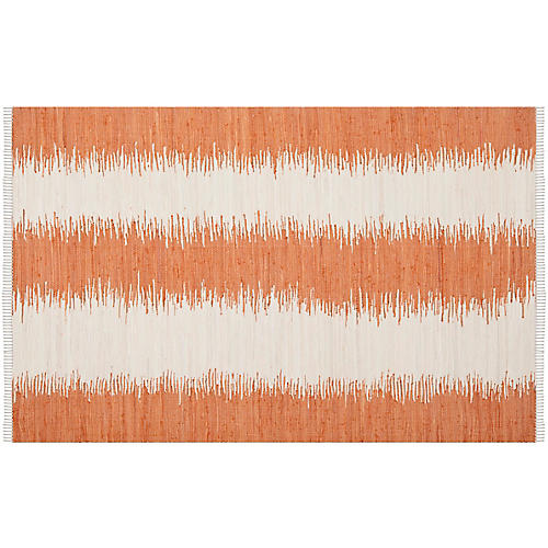 Uma Flat-Weave Rug, Orange