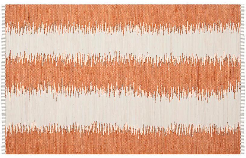 Uma Flat-Weave Rug, Orange
