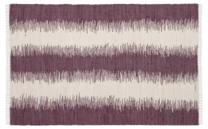 Uma Flat-Weave Rug, Purple