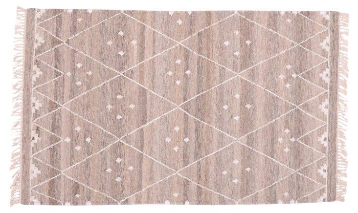 Annie Flat-Weave Rug, Beige