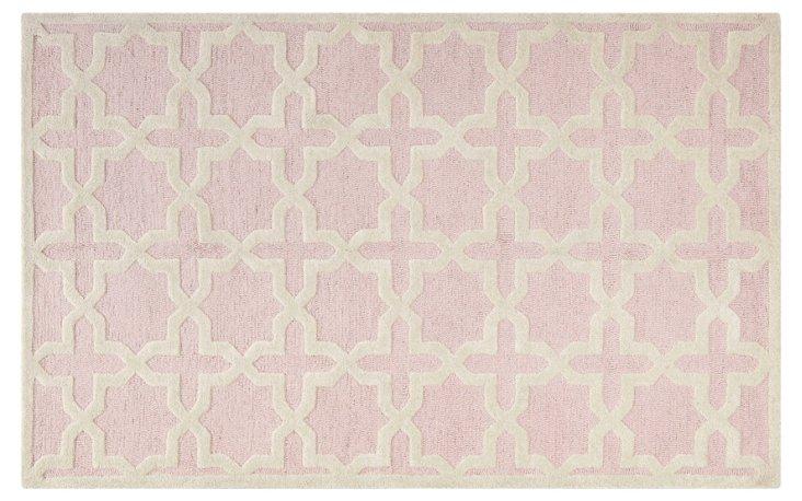 8'x10' Cassie Rug, Light Pink/Ivory