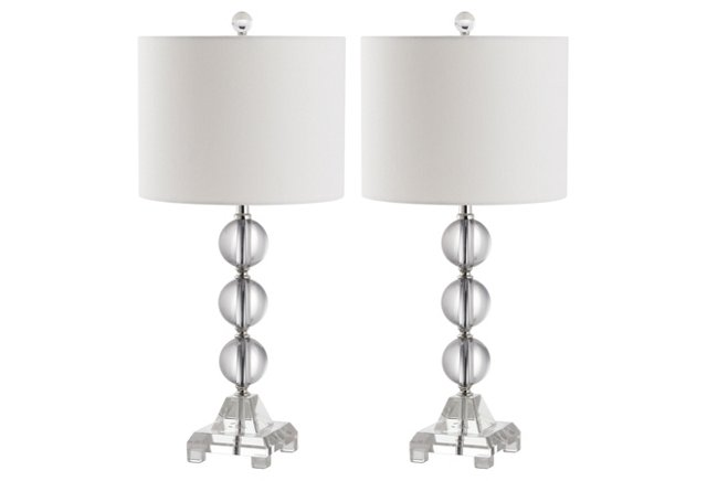 Fiona Crystal Table Lamp Set