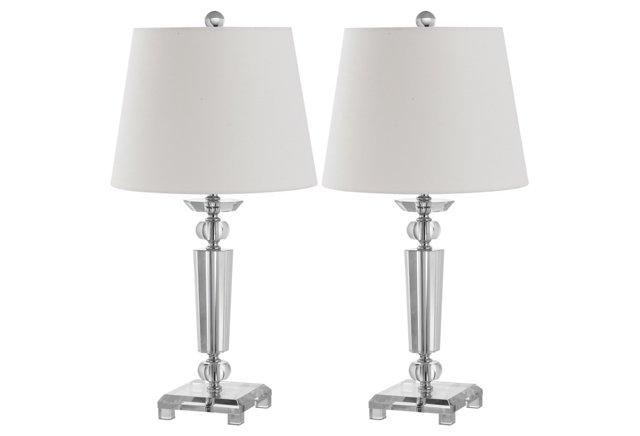 Imogene Table Lamp Set, Crystal