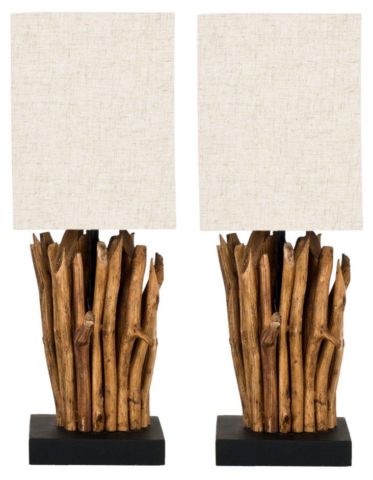 Fremont Branch Lamp Set