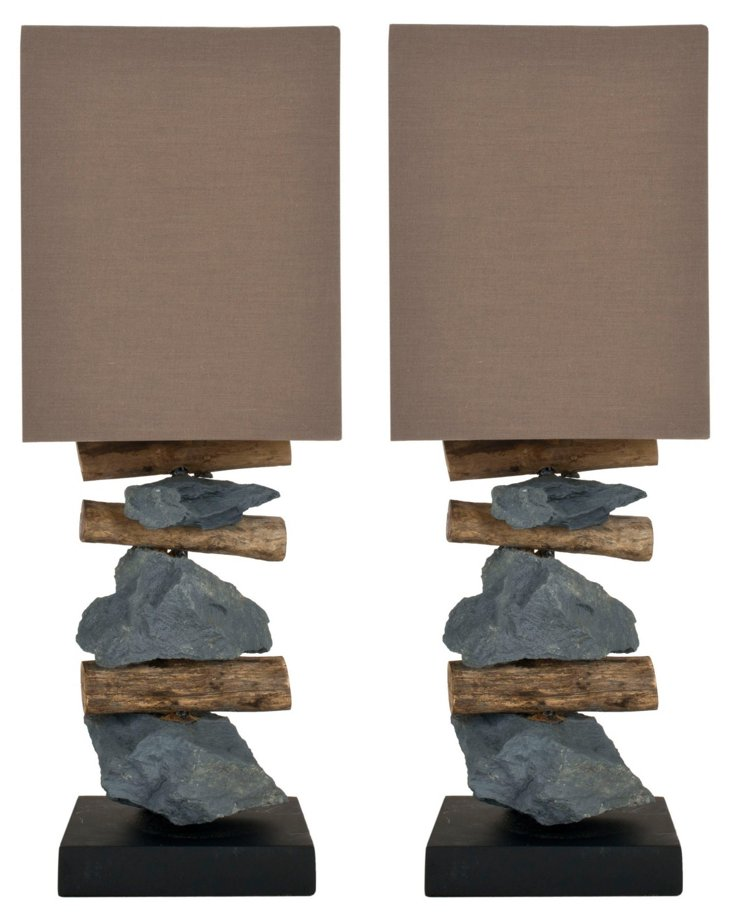 Pismo Table Lamp Set, Brown