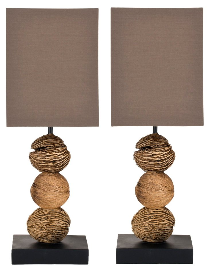 Pacheco Table Lamp Set, Natural