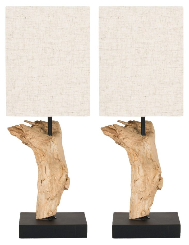 Montana Table Lamp Set, Root Wood