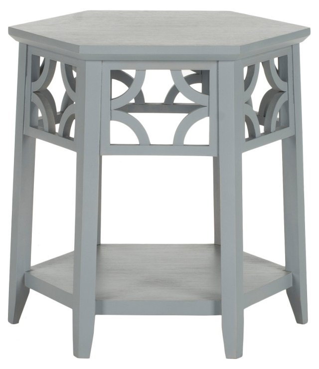 Silas Side Table, Stone Gray