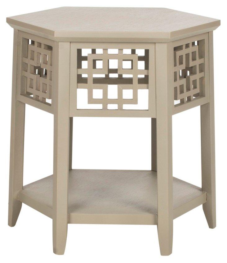 Magnolia Side Table, Taupe