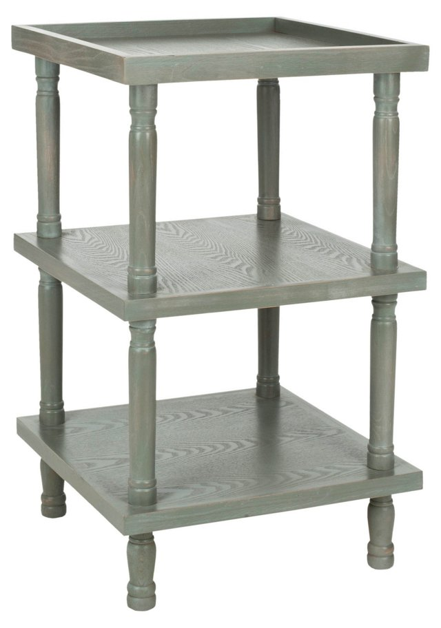 Phineas Side Table, Distressed Ash Gray