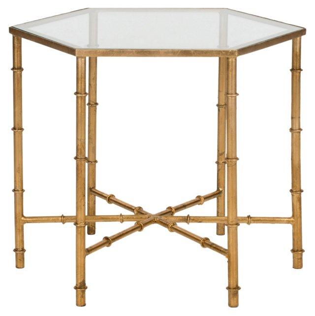 Ashton Side Table, Mirrored Glass