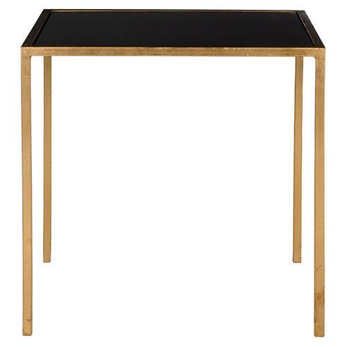 Hayden Side Table, Gold/Black