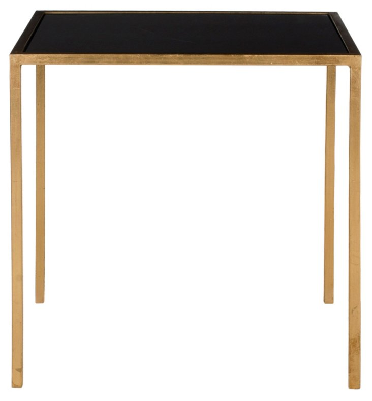 Hayden Side Table, Gold/Black