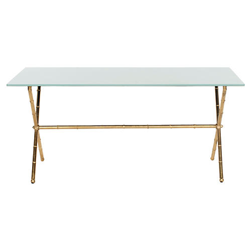 Pratt Coffee Table, Gold/White
