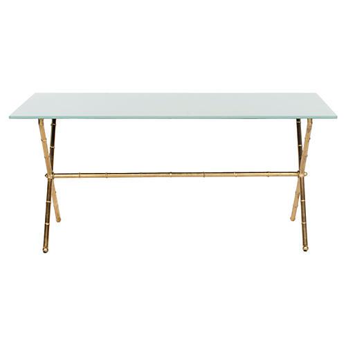 Pratt Coffee Table, Gold/White