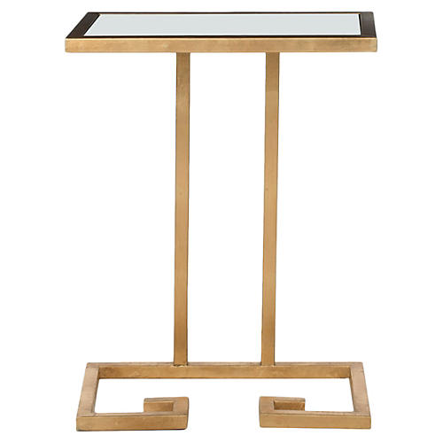 Gideon Side Table, Gold