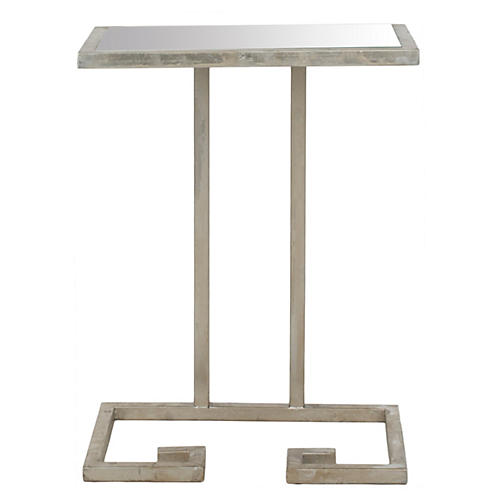 Lenox Side Table, Silver