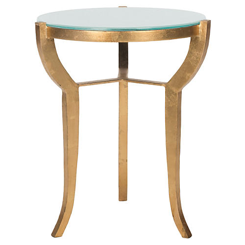 Eustace Side Table, Gold