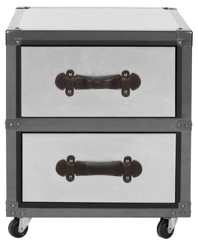 Otis Rolling Cabinet, Silver/Black