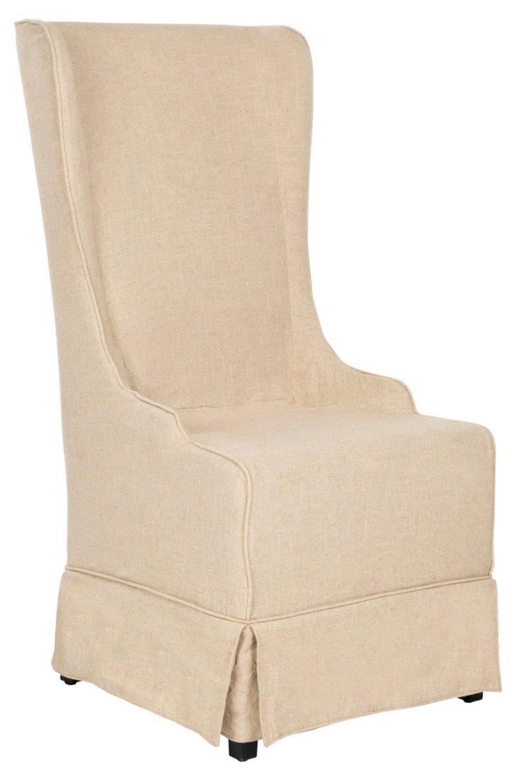 Elijah Slipcover Dining Chair, Hemp