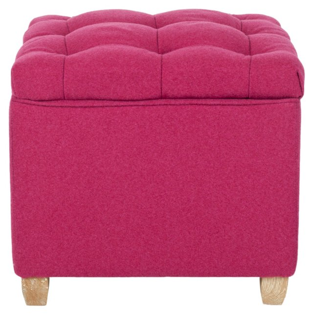 Weston Storage Ottoman, Hot Pink