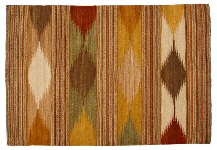 Adler Flat-Weave Rug, Natural/Multi