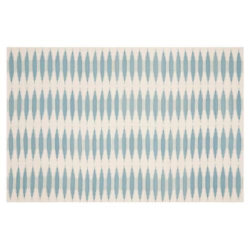 Edith Flat-Weave Rug, Sky