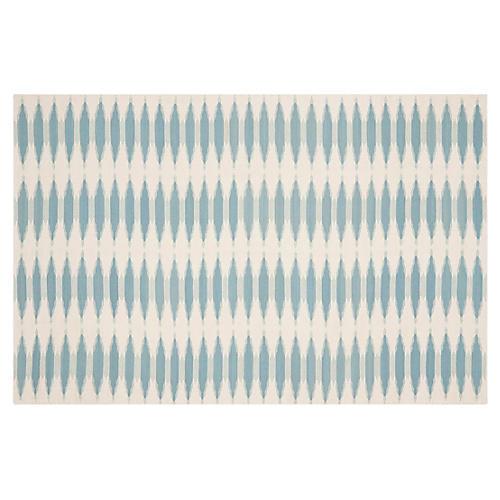 "2'3""x8' Edith Flate-Weave Rug, Sky"