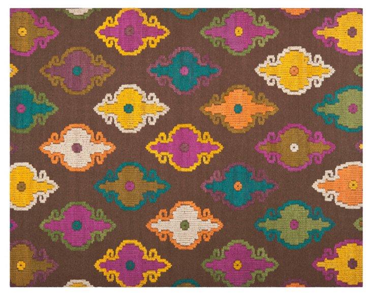Rekker Flat-Weave Rug, Brown