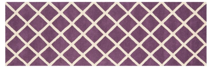 Thalia Rug, Purple/Ivory
