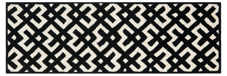 Solange Rug, Ivory/Black