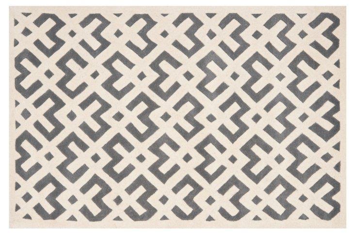 Solange Rug, Gray/Ivory