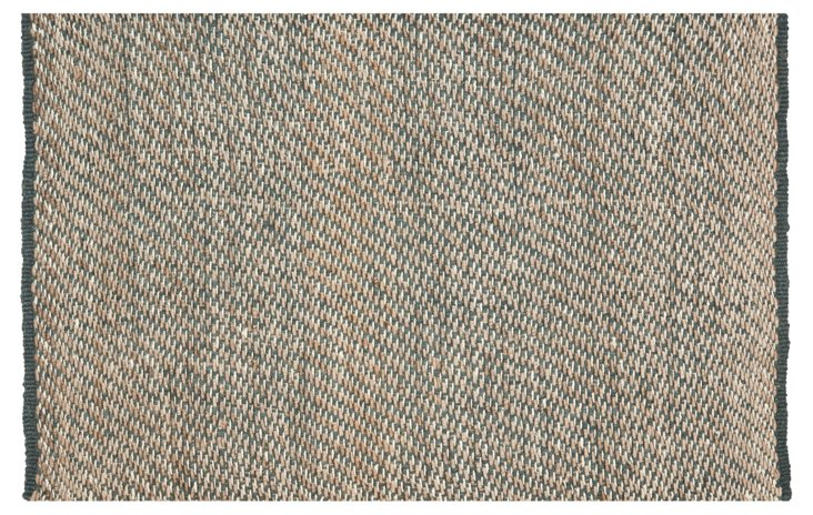 Talia Sisal Rug, Natural/Blue