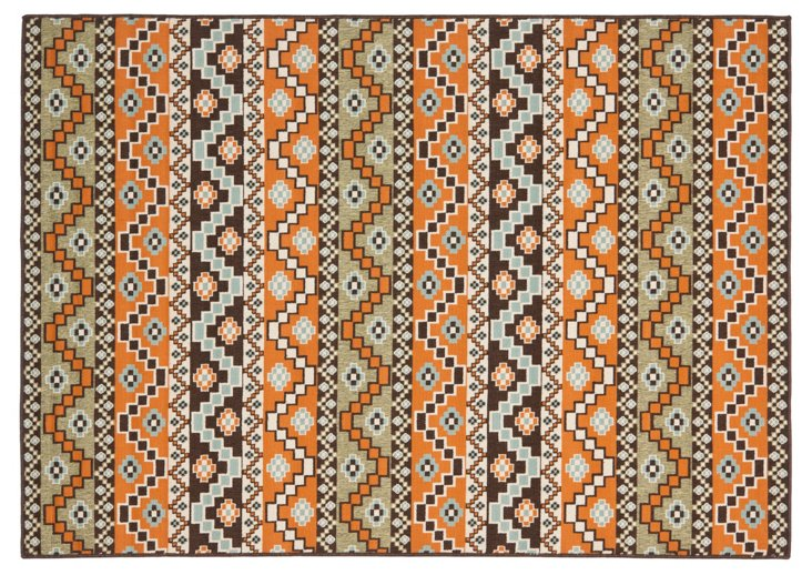 Birch Outdoor Rug, Terracotta