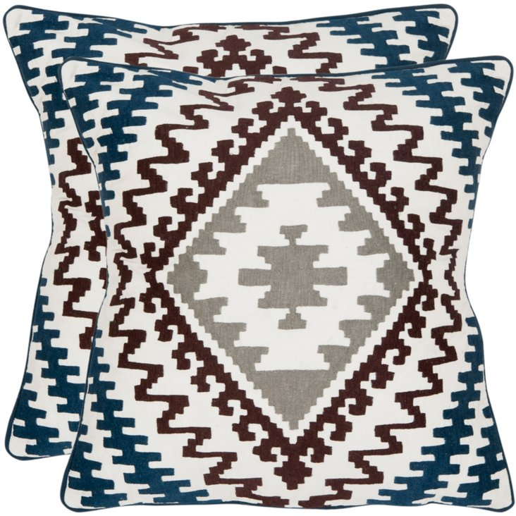 S/2 Rizzo 18x18 Pillows, Multi