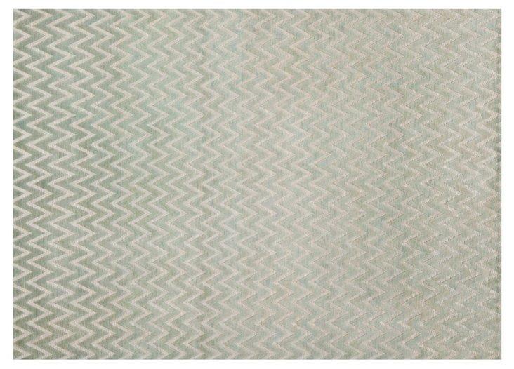 6'x9' Evie Rug, Light Gray/Silver